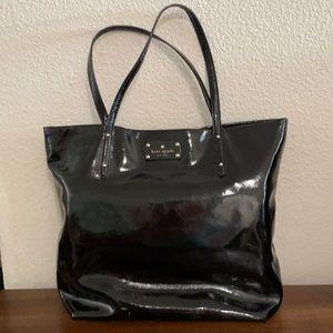 Fabulous Kate Spade Tote-Black Patent Leather